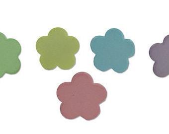 Flower Brads - Pastel Color Embellishments Set of 18