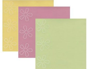 Scrapbook Cardstock Paper Bazzill In Stitch'z Spring 6 Sheets