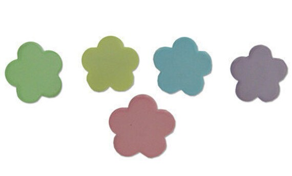 Flower Brads - Pastel Color Embellishments Set of 18