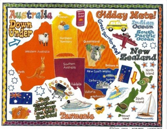 Stickers Australia  Vacation Scrapbook Cards