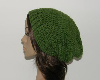 Everyday Extra Slouch Hat - Color: Kelly Green - made to order - long slouch hat