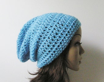 LazyDay Slouch Beanie - LB Blue - made to order