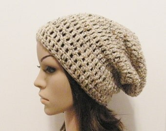LazyDay Slouch Beanie - Oatmeal - made to order