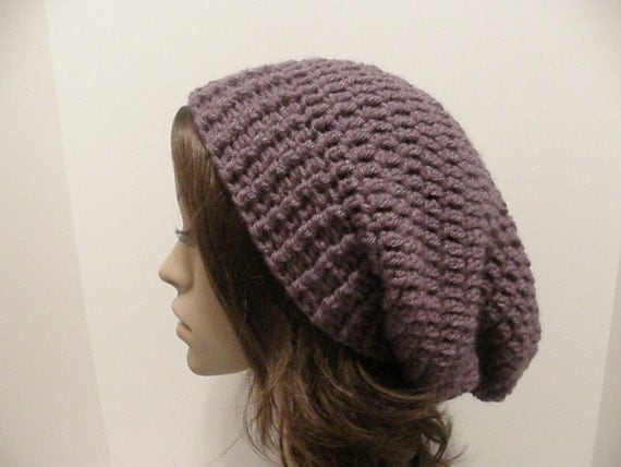 Everyday Extra Slouch Hat - Dusty Purple - made to order - long slouch hat