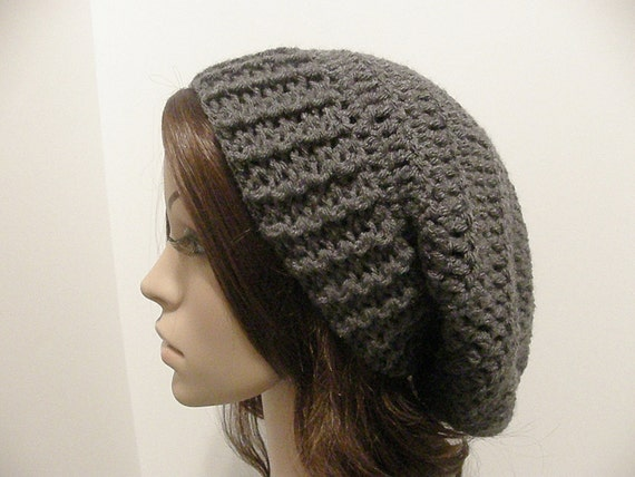 Everyday Extra Slouch Hat - Charcoal Gray - made to order - long slouch hat