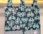 Diaper Stacker - Michael Miller It's a Boy Thing Bicycles Grey