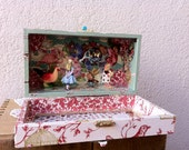 Shadow Box Diorama - Alice meets the Cheshire cat