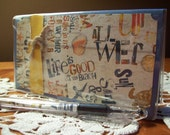Life is Good at the Beach Vinyl Checkbook Cover w/ Matching Pen