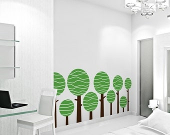 "Large Lolly Tree Wall Decal - Great for nursery's and kids room - 113"" x 48"""