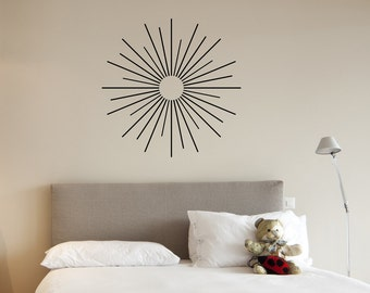 starburst vinyl wall decal sticker abstract decal geometric wall decal abstract nursery - Starburst Wall Decor