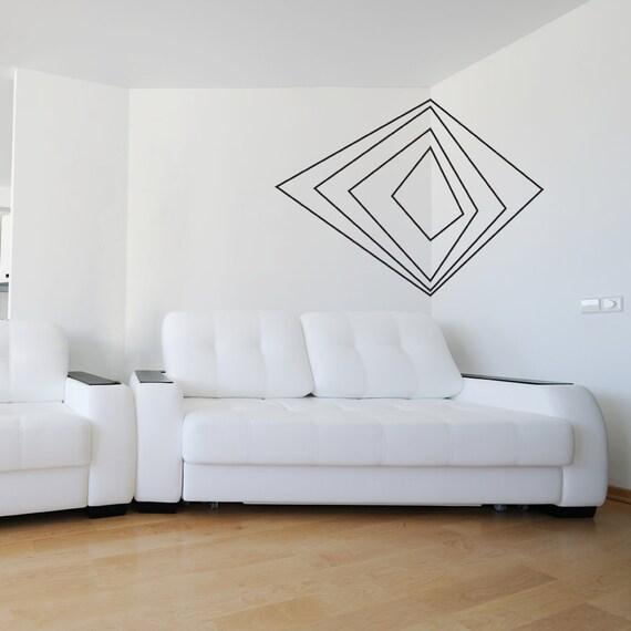 Corner D Art Vinyl Wall Decal StickerGeometric Shaped - Vinyl wall decals abstract