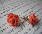 Peach Floral Bud Earrings