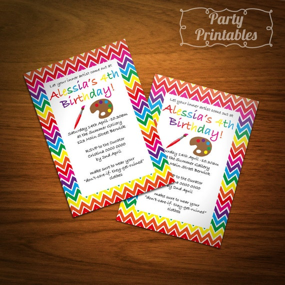 Art & Crafts Party Invitation
