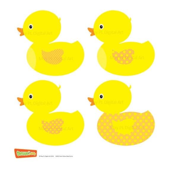 Rubber Duck Clip Art Ducky Duckie Baby Shower By Maypldigitalart