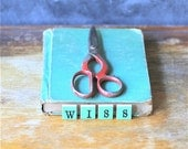 Vintage Red Handled Wiss Scissors