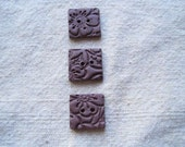 Raisin Square Polymer Clay Buttons