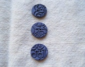 Grape Round Polymer Clay Buttons