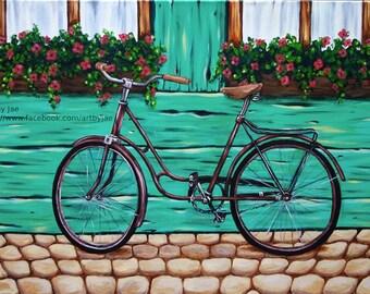 Bicycle Print Small Wall Art Italian Street Vintage Bicycle Home Decor