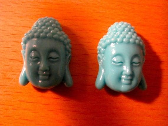 Turquoise Resin Buddha Bead