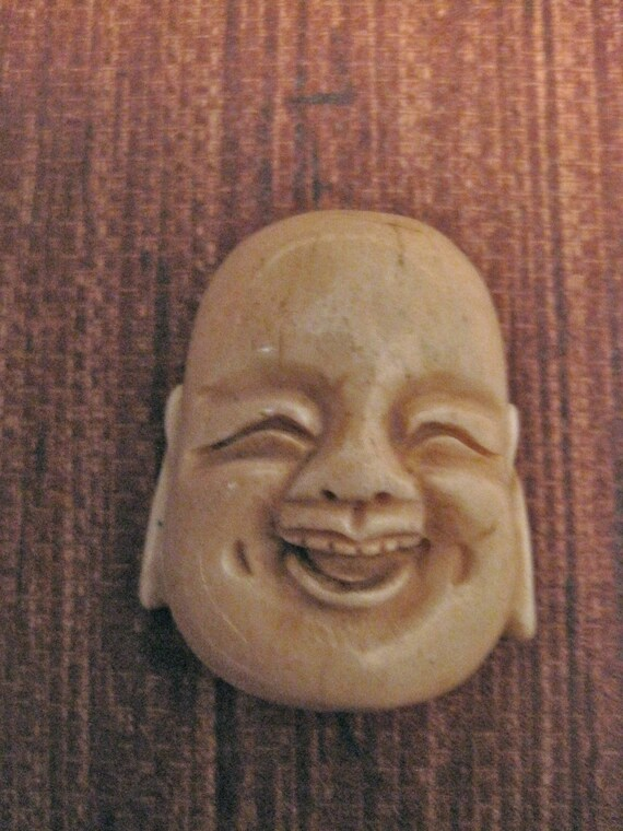 1 BONE Happy BUDDHA  PENDANT