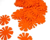 Bright orange starburst flower die cuts set of 30 1980s colors cornflower die cut sunburst sunshiney colors orange and yellow theme
