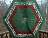 """Christmas tree skirt  41"""" x 41""""  side to side, 47"""" x 47"""" point to point"""
