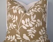 Dwell Studio Indoor/Outdoor Taupe and White Decorative Pillow Cover 20 x 20