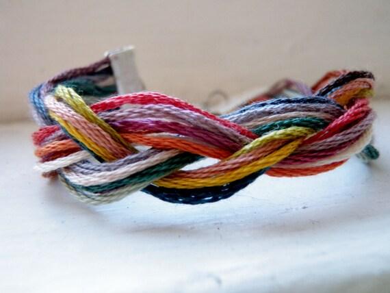 Braided Embroidery Thread Bracelet