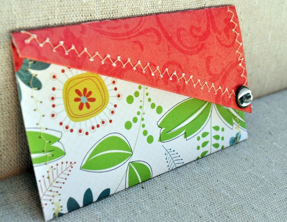 Business Card Keeper  - with two pockets to keep yours and those you collect