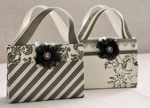 Mini handbag/purse gift card or treat keeper -  Set of 2 - adorable way to share a gift with someone special