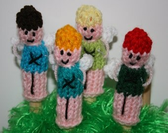 Fairy Finger Puppets, Hand knitted
