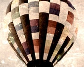 Hot Air Balloon - Riding High - 8x10 photograph - fine art print - hot air balloon - vintage photography - nursery art - whimsical