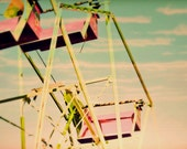 "READY TO SHIP 8x10 photograph - ""Joy Ride"" - fine art print - vintage photography - ferris wheel carnival - children's art"