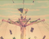 "Carnival Art - ""Swing With Me"" - fine art print - vintage photography - carnival ride art - whimsical nursery art"
