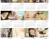 DOWNLOADABLE 2012 Calendar - Collectible 4x6 photographs  - Vintage photography - Carnival - Birds - Butterfly