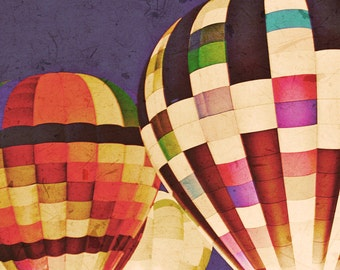 Hot Air Balloons - Large Wall Art - 16x20 photograph - fine art print - children's art - vintage photography - home decor