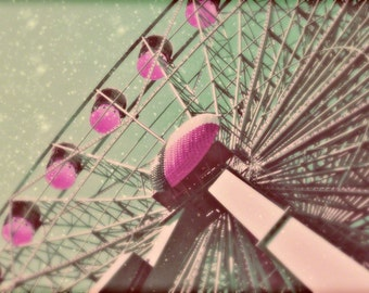 "Ferris Wheel Carnival Art - 8x10 photograph - ""The Stars at Night"" - fine art print - romantic - valentines - wedding gift"