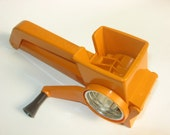 Vintage Orange Mouli Grater Mouli-Master w/Three Drums WL Housewares Moulinex Made in France Grates, Shreds & Slices