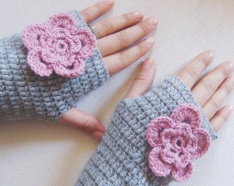 Fingerless Gloves, Accessories, Crochet Mittens,  Handmade Gifts, For Her Gift idea, Arm warmers, Winter Glove