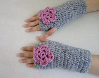Girls Fingerless Gloves, Cute Girls Gloves, Winter Gloves, Kids Accessories, Crochet Gloves, Mittens, Cute Gloves