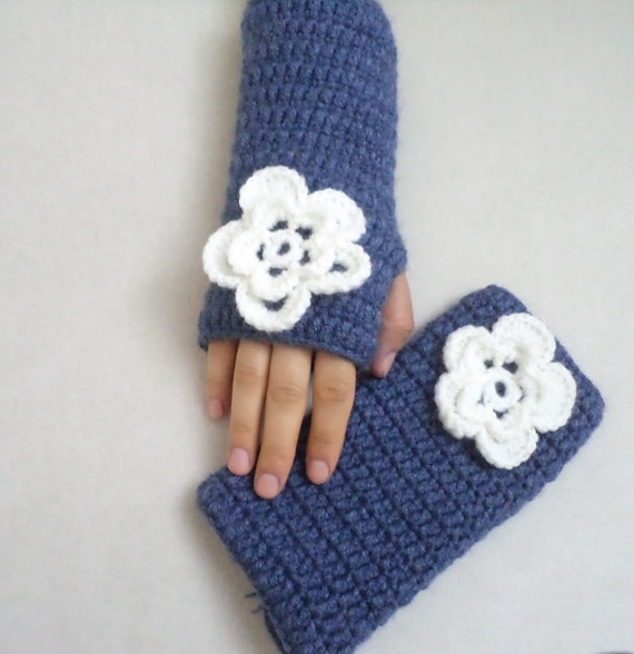 Jean Color Gloves, Winter Gloves, Fingerless Gloves, Crochet Gloves, Mittens, Handmde Winter Gloves, Gift for her, christmas gifts