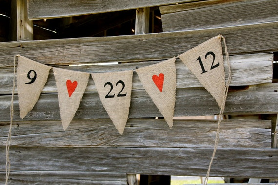 Wedding sign - Save the Date sign -Burlap Banner - engagement photos - Photography prop