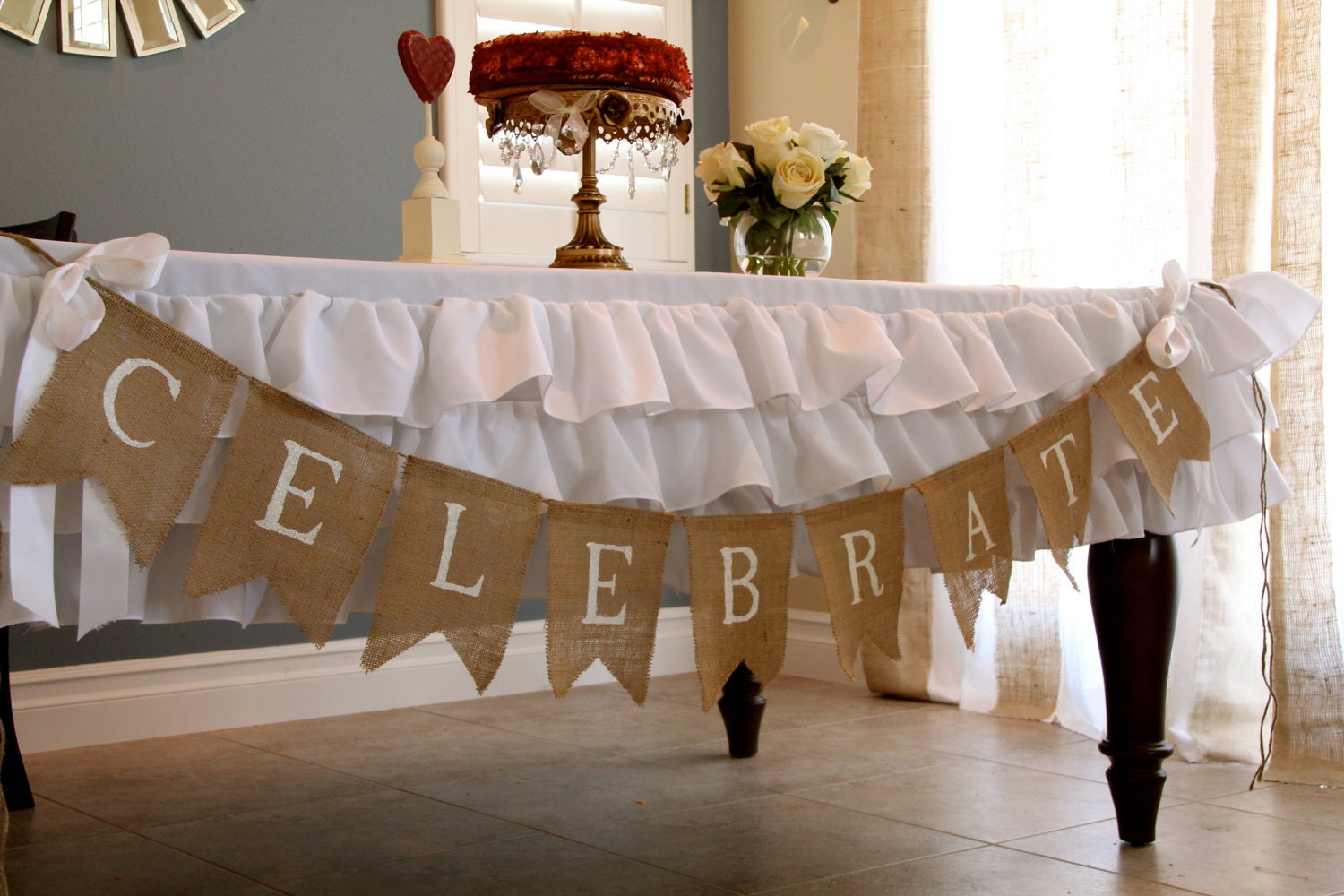Celebrate Burlap Banner Wedding Banner By Butterflyabove