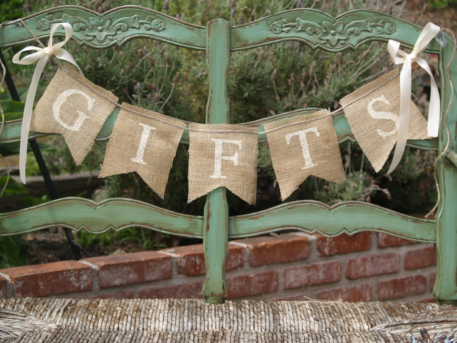 Banner: GIFTS Burlap Banner Wedding Banner Gifts Sign By
