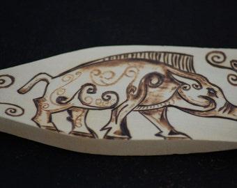 Celtic Wild Boar, Wooden Spatula.