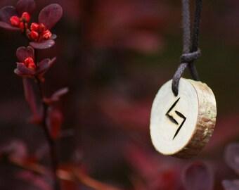 Birth Rune Pendant, 'Jera' 13th December to 28th December