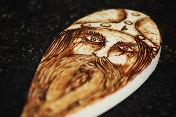 THOR Norse God, Wooden Spoon.