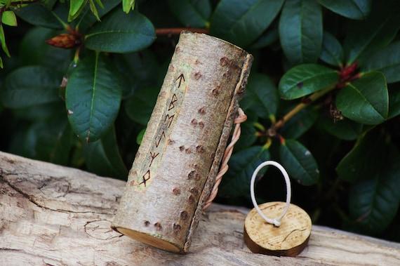 Ash Tree - Bark Box with Runic Markings