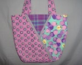 Quilted Bag Large Tote Computer Bag Shopping Bag Pink Purple Tote Women Accessories