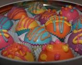 Cake Balls, Cake Truffles, Cake Pops, Spring Cake Balls